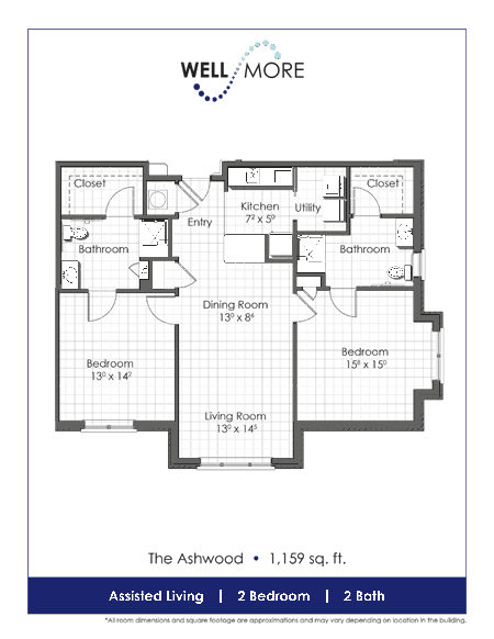 Two Bedroom Apartment - Charleston Assisted Living